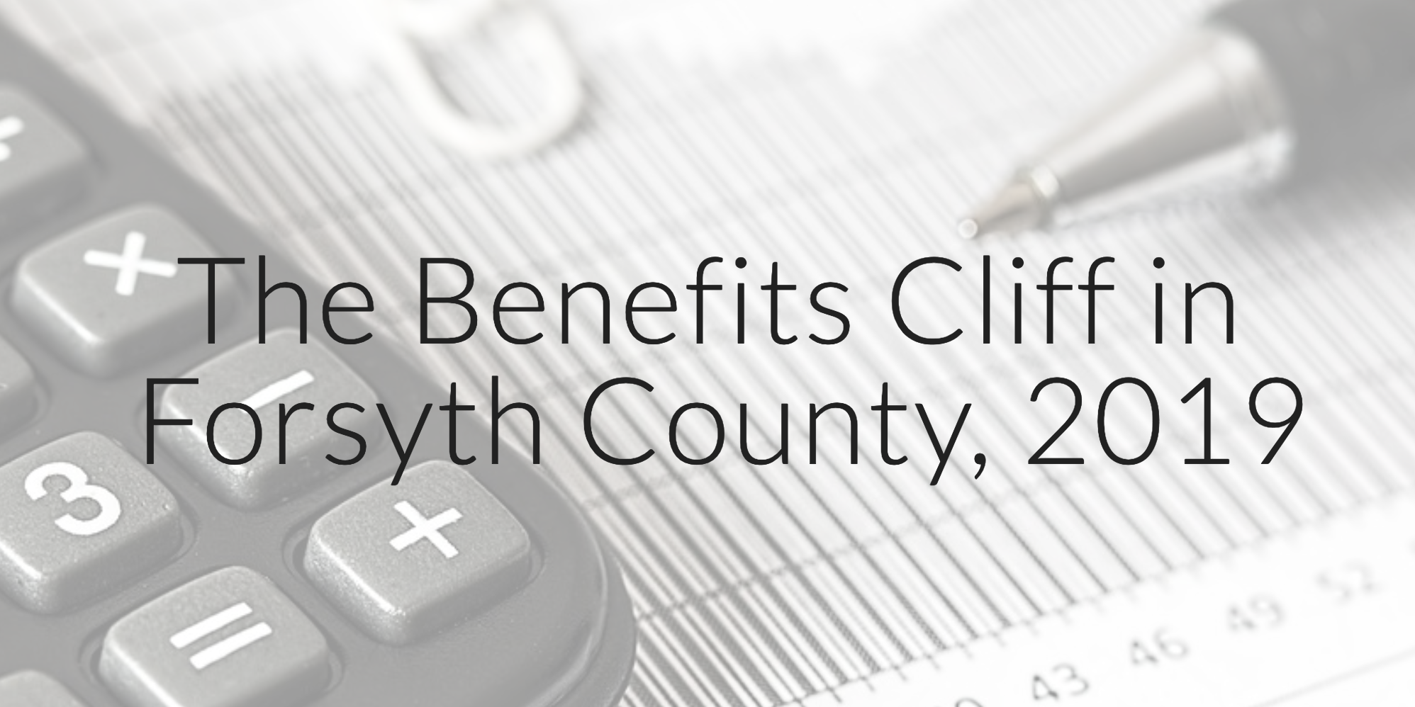 Cover Image for Benefits Cliff Microsite
